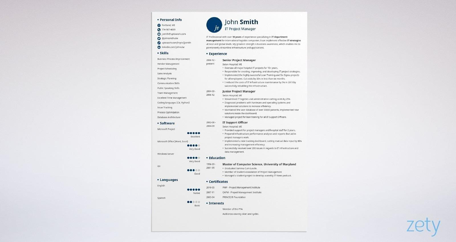 75 Beautiful Ideal Resume Template with Design