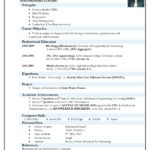 75 Fresh Top 5 Resume Format for Pics