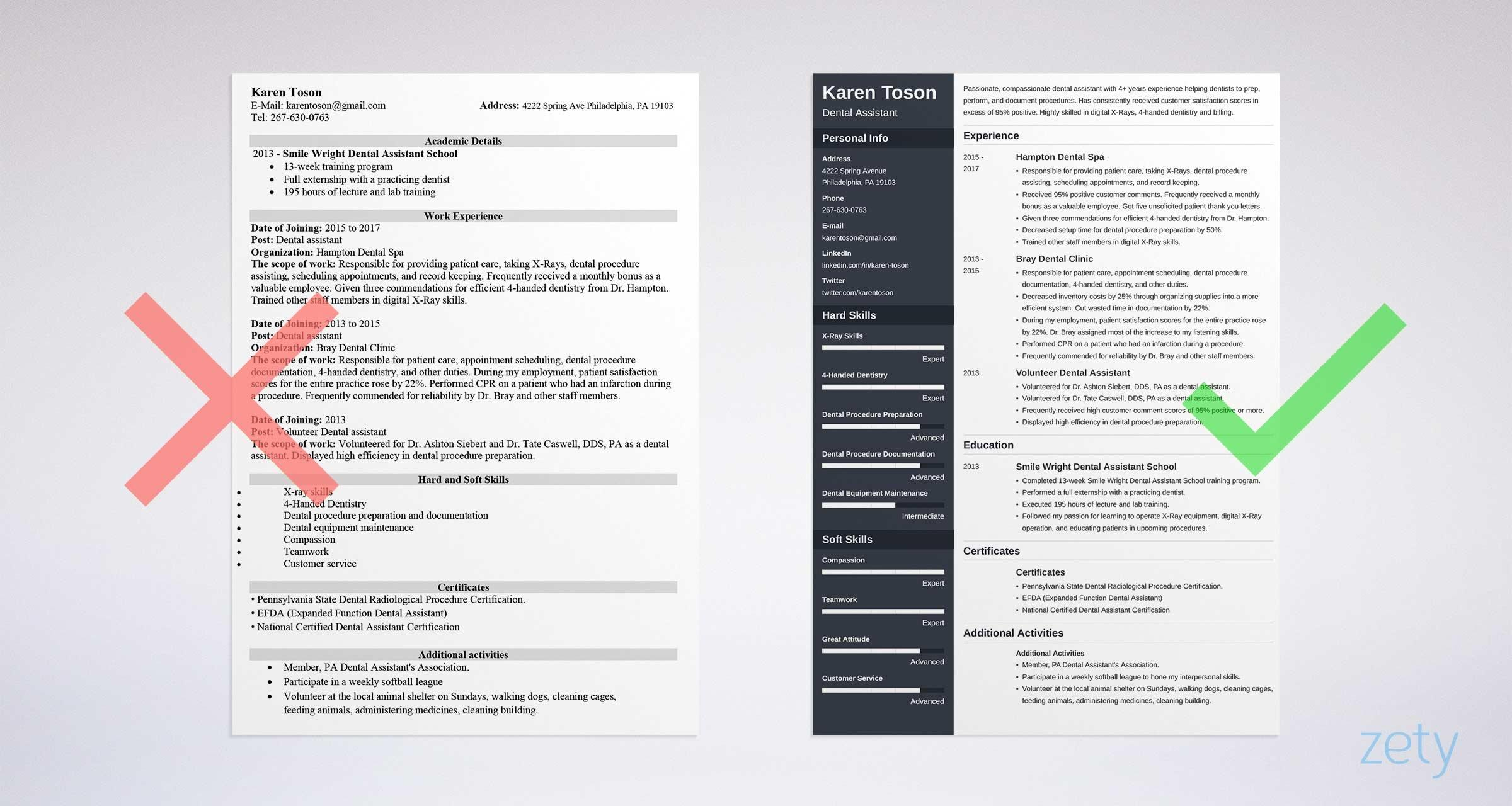 75 Great One Page Resume Site by Pics