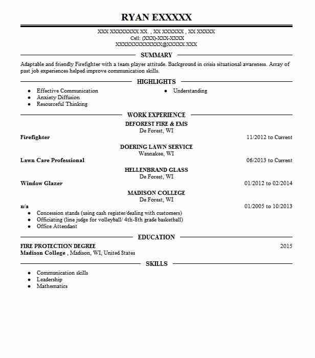 75 nice entry level firefighter resume for pictures