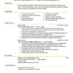 76 Excellent Experienced Teacher Resume Examples for Graphics