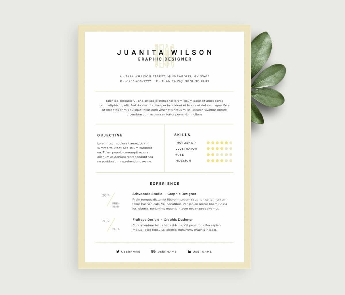 76 Excellent Free Cv Template Download for Gallery
