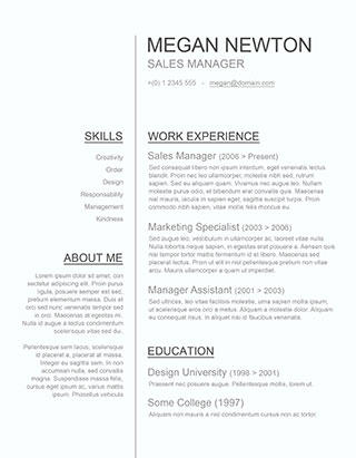 76 Excellent Simple Resume Template Word for Design