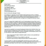 76 Fresh Hospitality Cover Letter by Pics