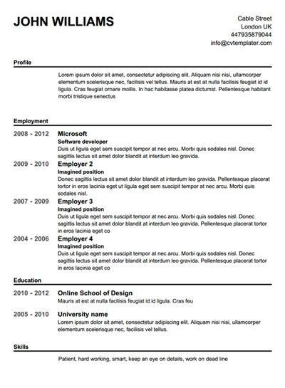 76 Great Free Resume Maker And Print by Pictures