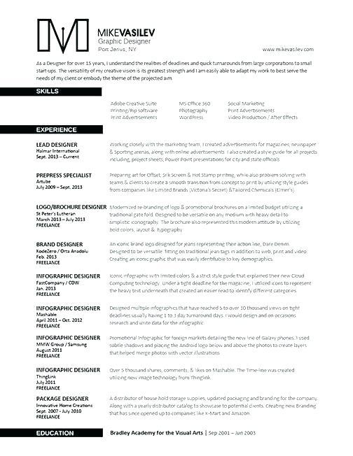 76 Great Great Looking Resume Templates by Design