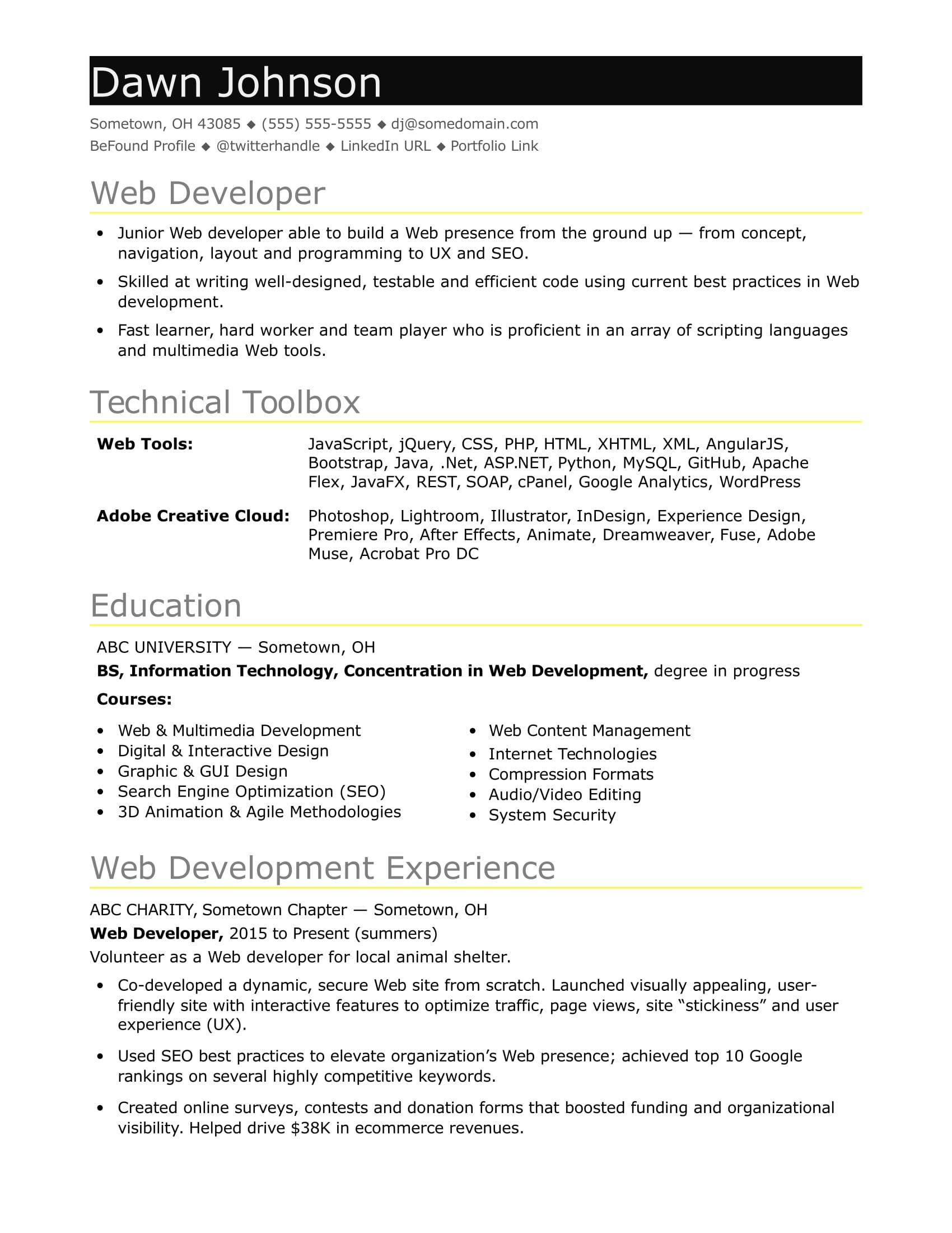 76 Inspirational Angularjs Resume Sample with Ideas