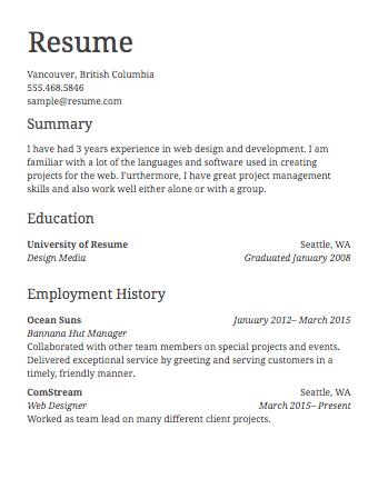 76 New Basic Resume Format For Job with Pics