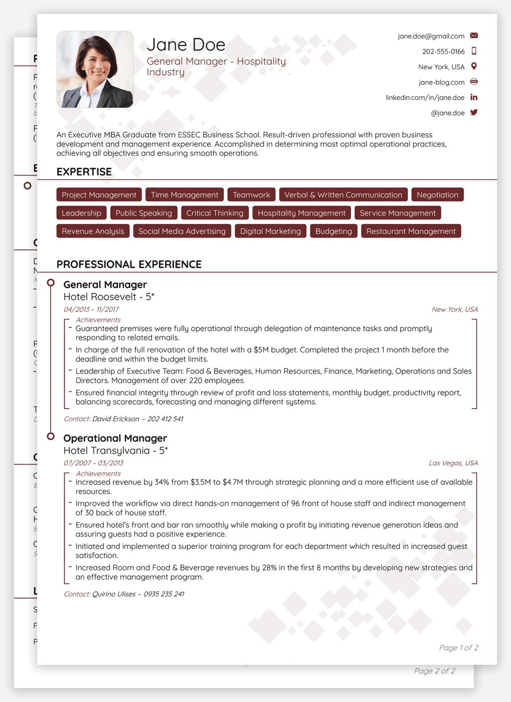 76 Stunning Curriculum Vitae Template with Design
