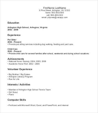 77 Beautiful Beginner Resume Template for Gallery
