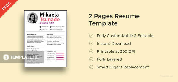 77 Best Free Pages Resume Templates with Design