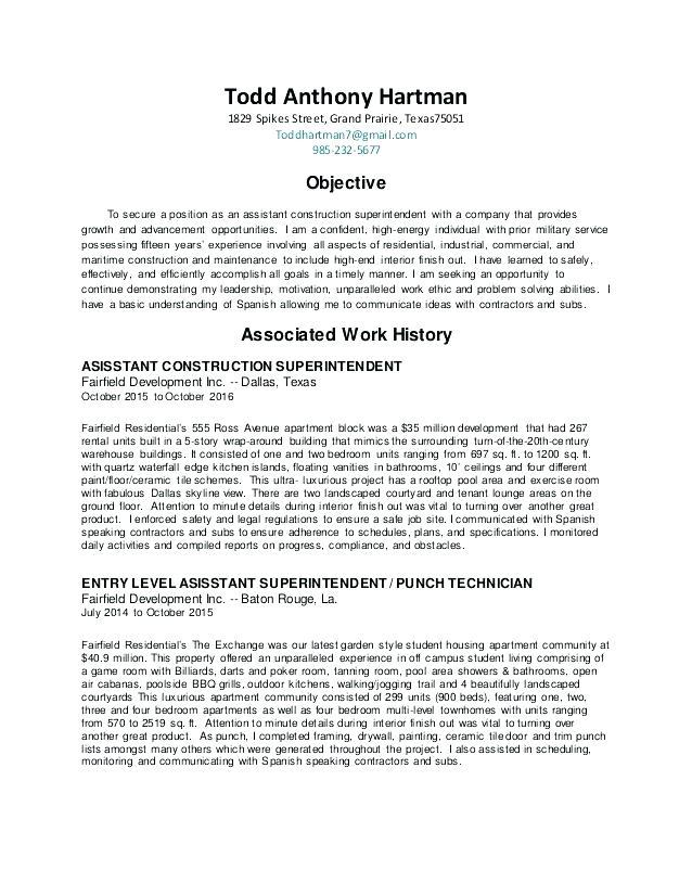77 Fresh Construction Superintendent Resume Cover Letter Examples with Design