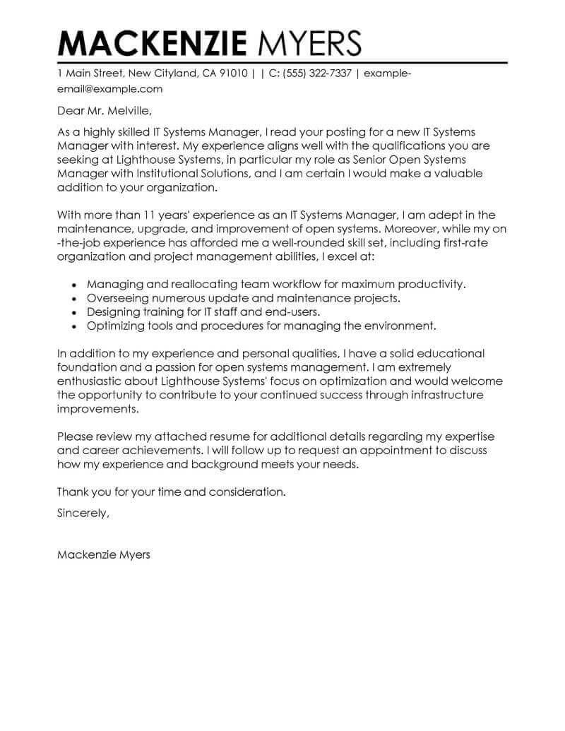 77 Inspirational Great Cover Letter Examples with Pictures