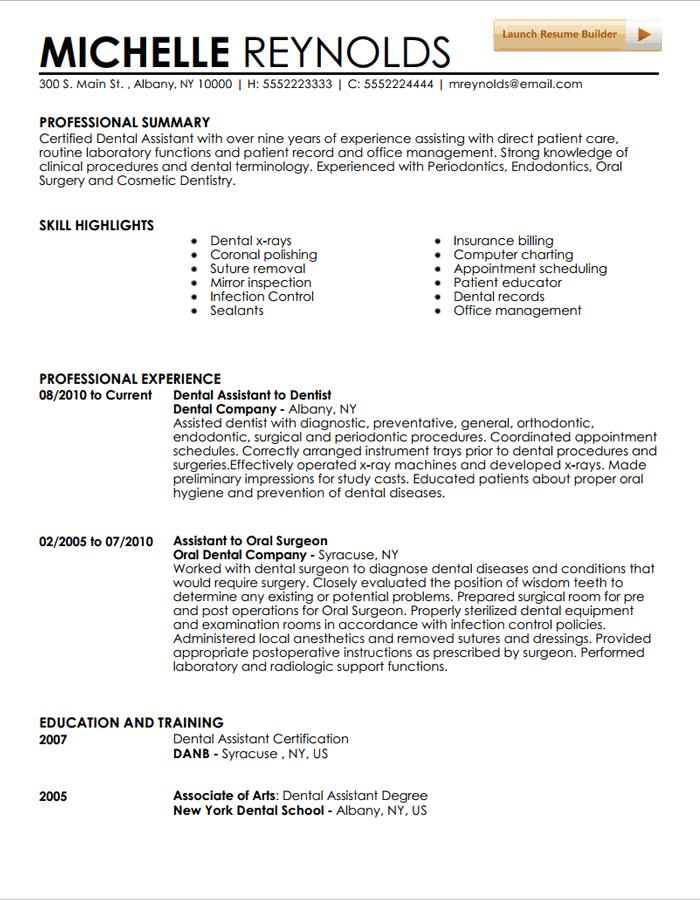 78 Beautiful Dental Assistant Resume Skills Examples for Design