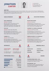 78 Excellent Great Looking Resume Templates for Graphics