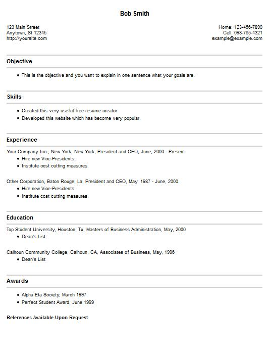 78 Lovely Resume Builder Online Free For Students for Ideas