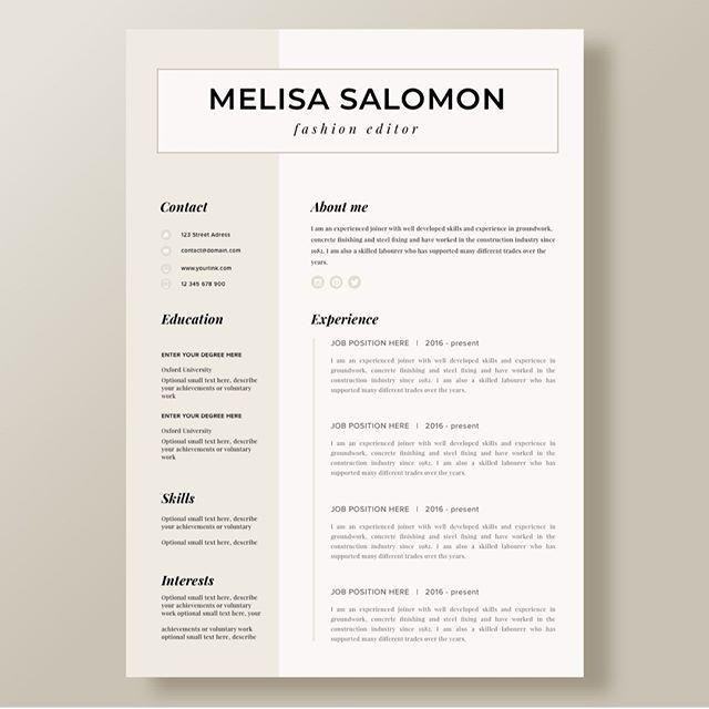 78 New Modern Day Resume for Gallery
