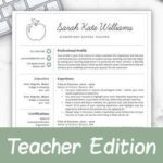 78 Stunning Teacher Resume Template by Ideas