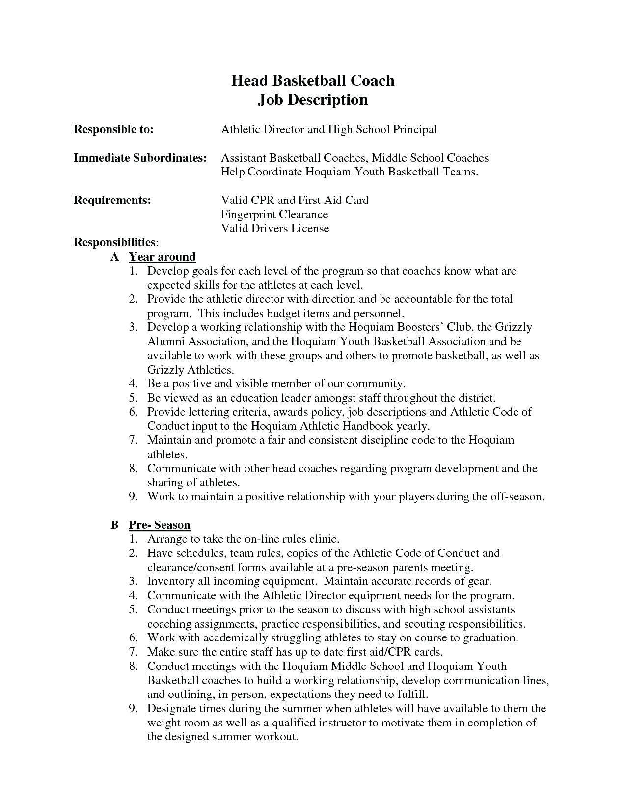78 Top Basketball Coaching Resume Cover Letter for Images