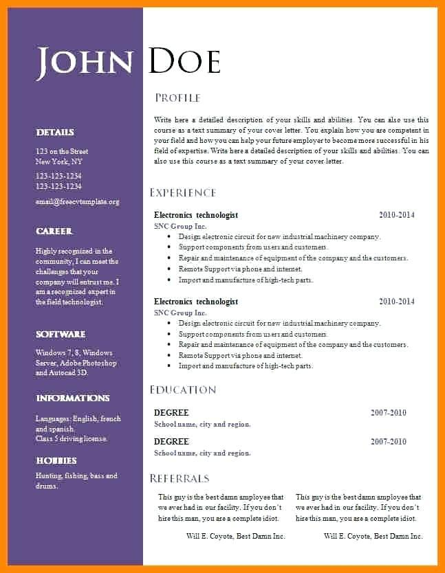 79 Best Word Document Cv Template by Graphics