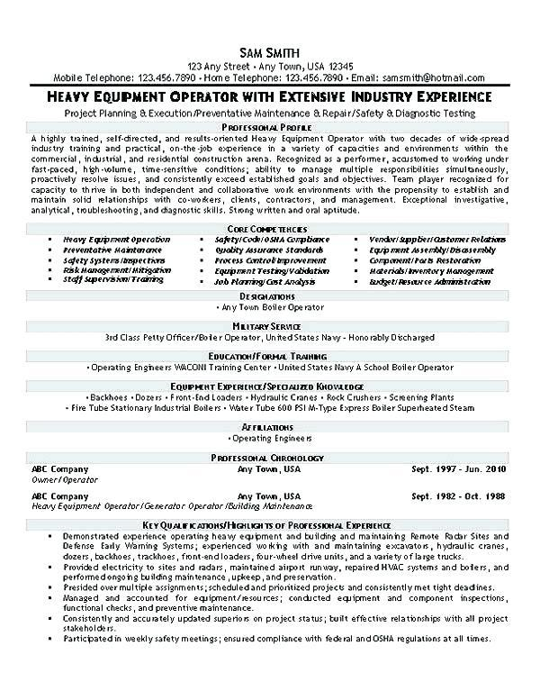 79 Excellent Crane Operator Resume Cover Letter for Pictures