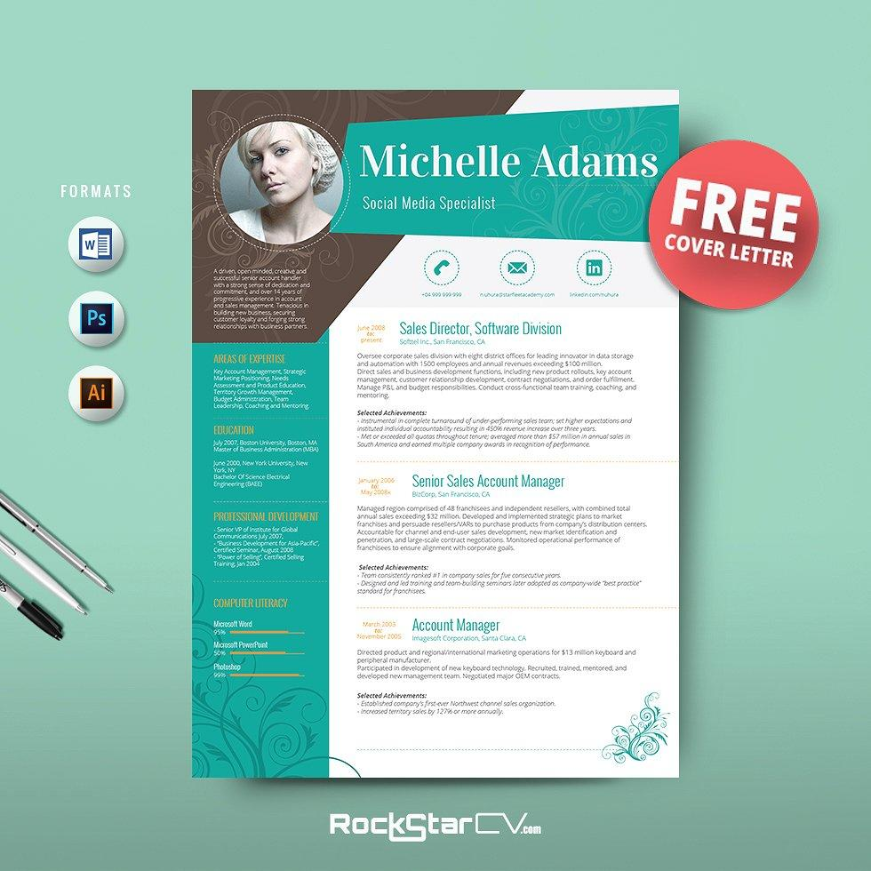 79 Great Free Creative Resume Templates Microsoft Word by Gallery