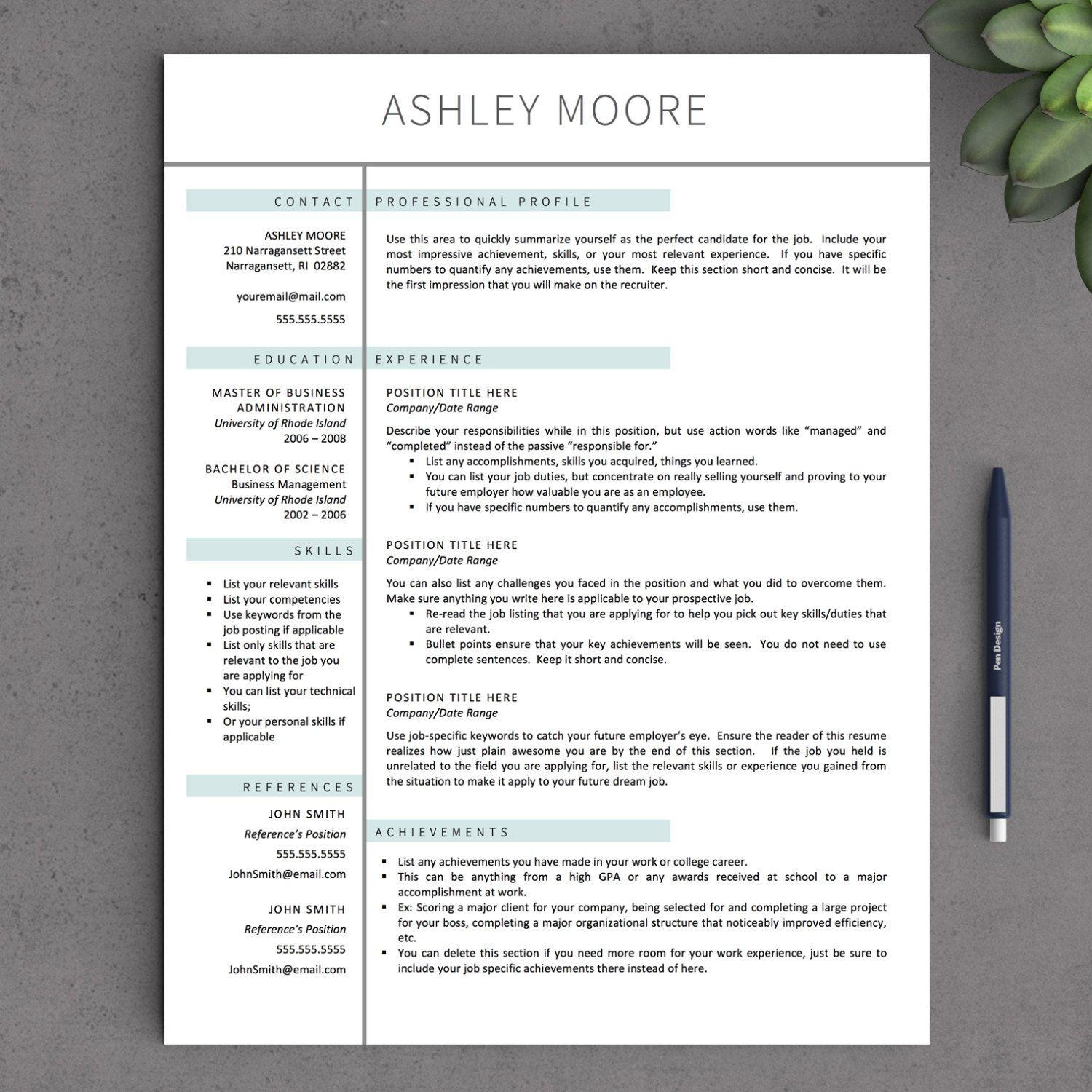 80 Beautiful Free Pages Resume Templates with Pics
