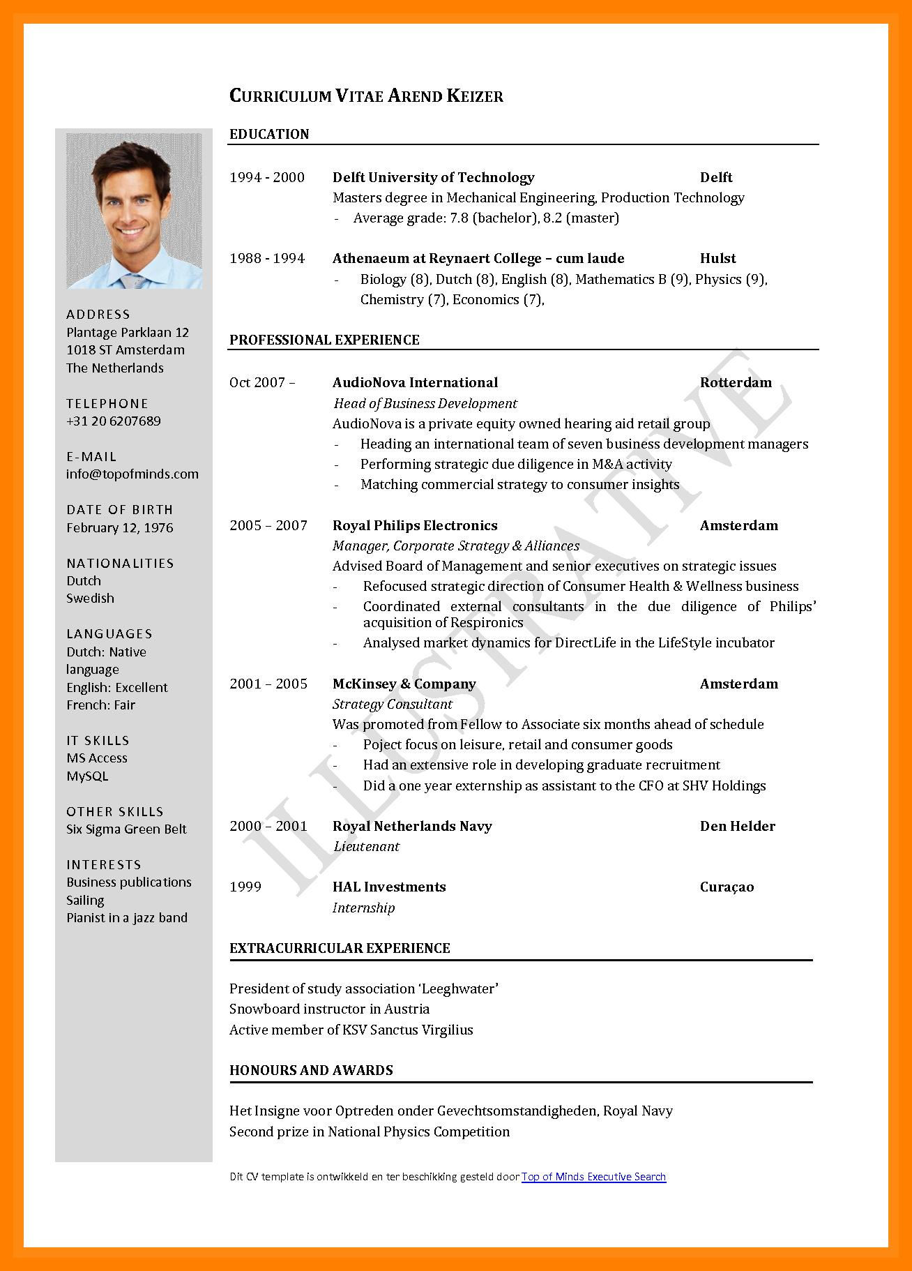 80 Cool Example Of Resume For Job Application Pdf for Ideas