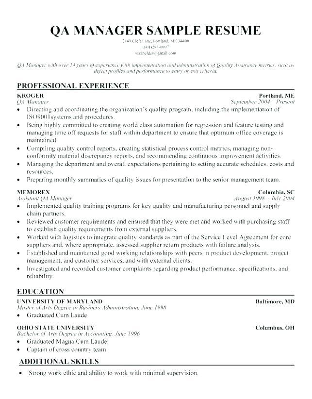 80 New Software Quality Assurance Engineer Resume with Gallery