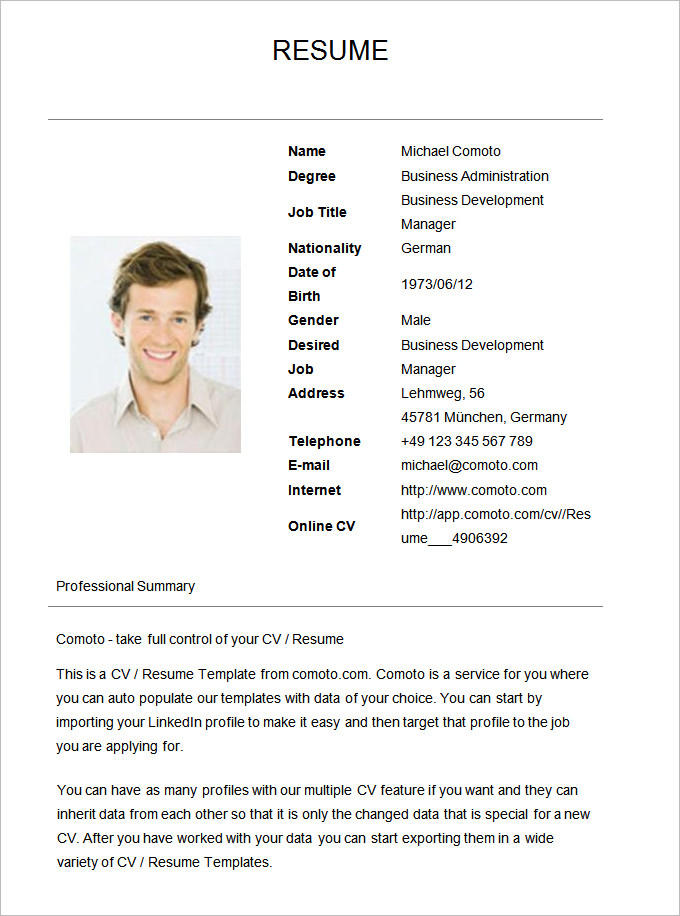 80 Stunning Resume Format Examples for Gallery