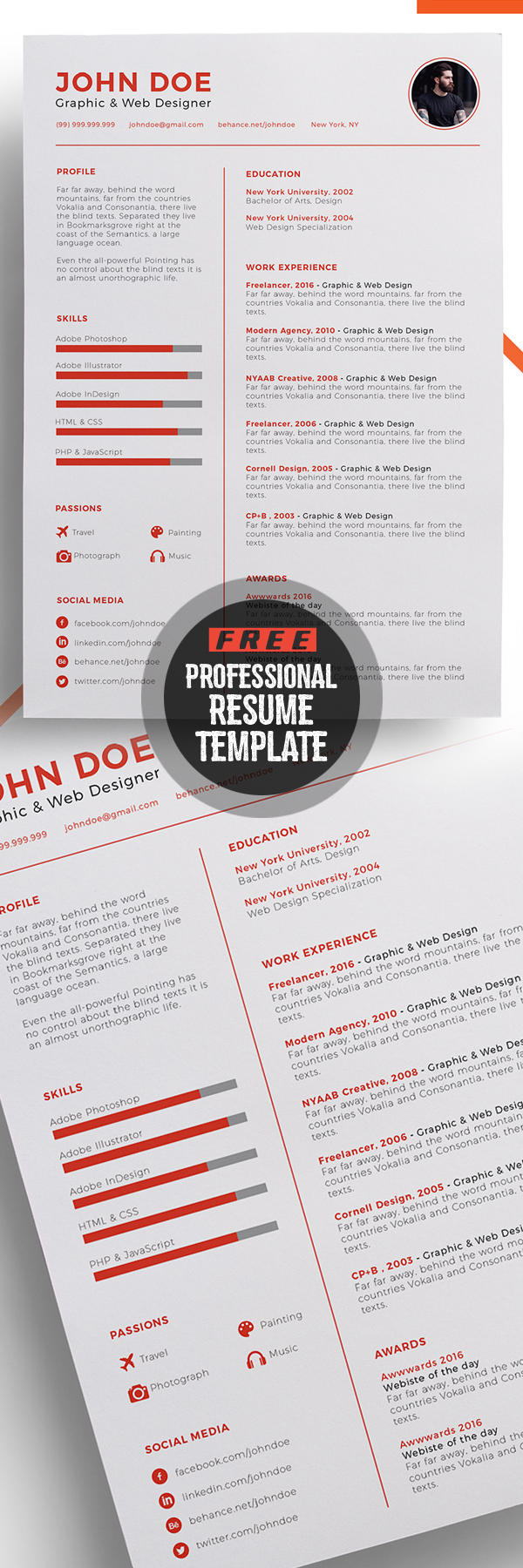 81 Awesome Free Stylish Resume Templates by Pics