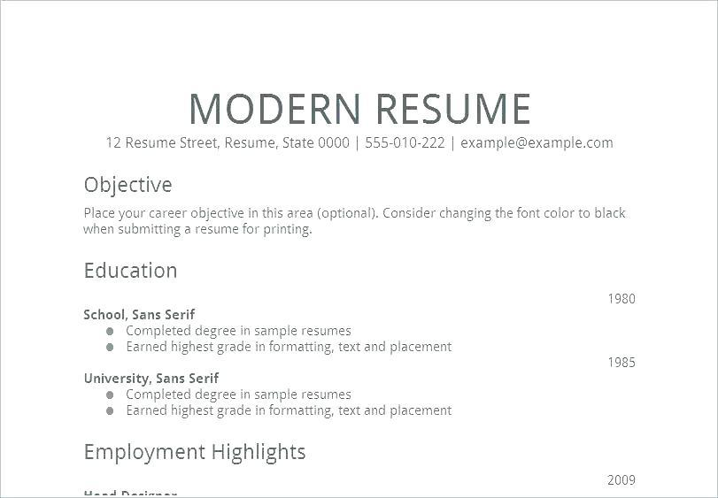 81 Best Proper Resume Layout with Images
