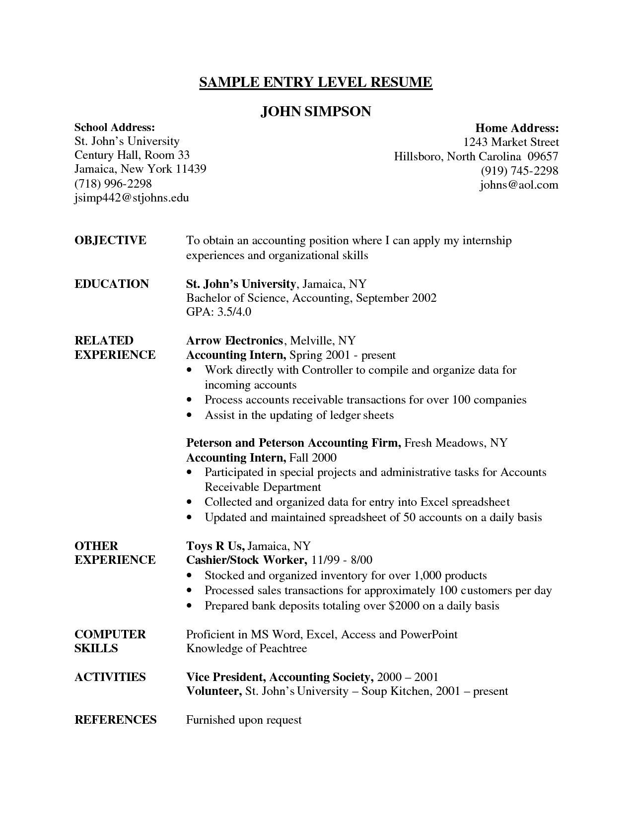 81 Excellent Beginner Resume Template with Graphics