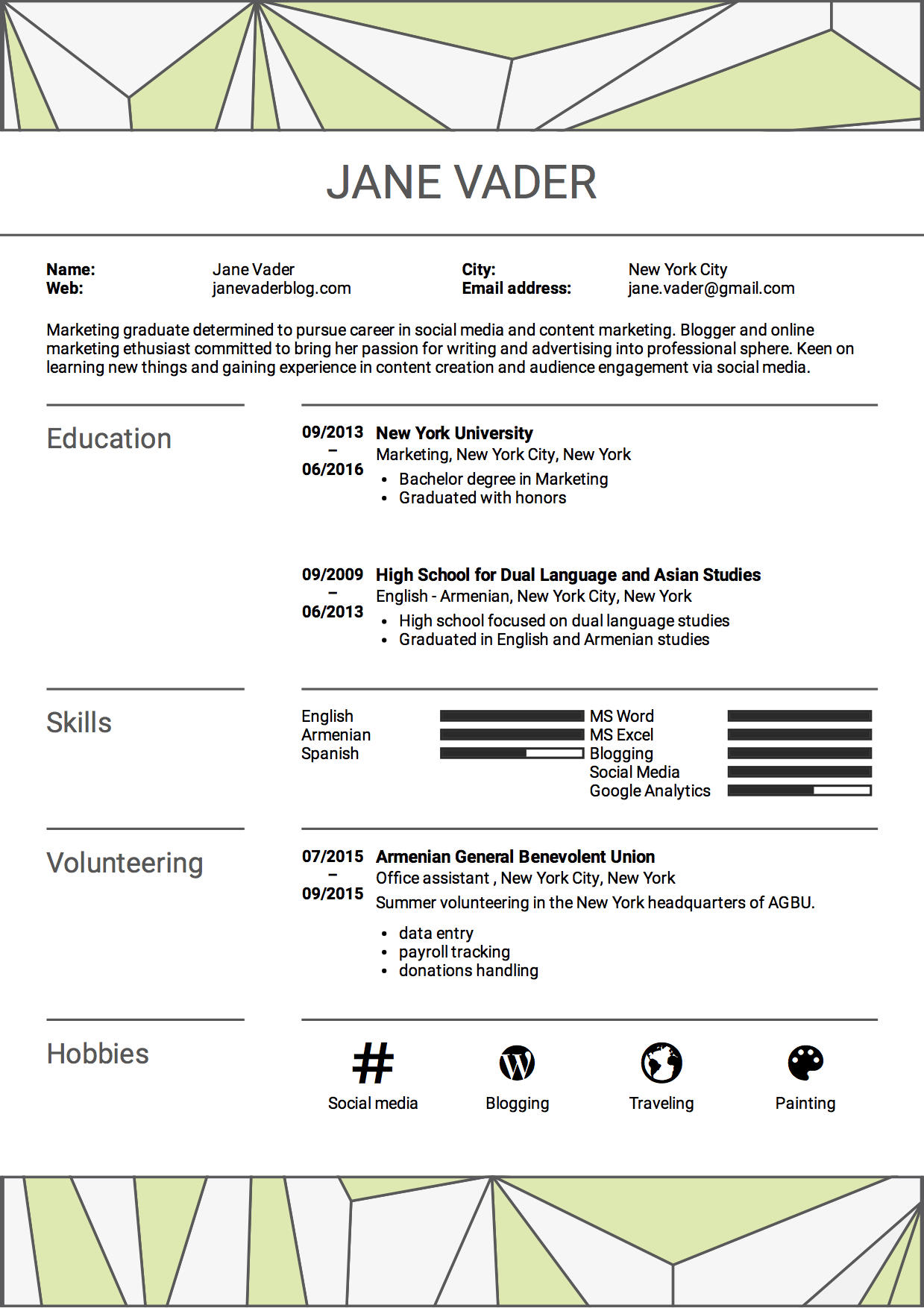 81 Inspirational What Should A Good Resume Have by Gallery