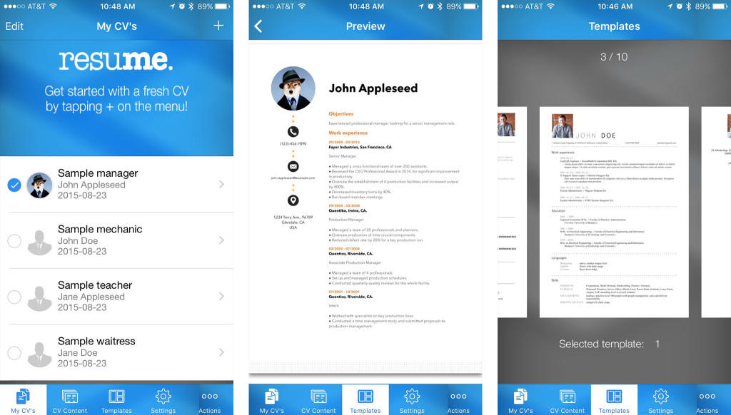 81 Nice Best Resume Builder App for Ideas