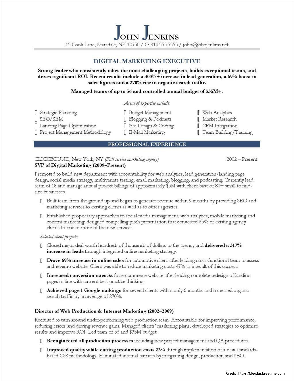 81 Top Digital Marketing Specialist Resume Sample with Images