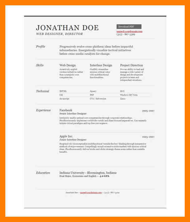 82 New Free 1 Page Resume Template for Pictures