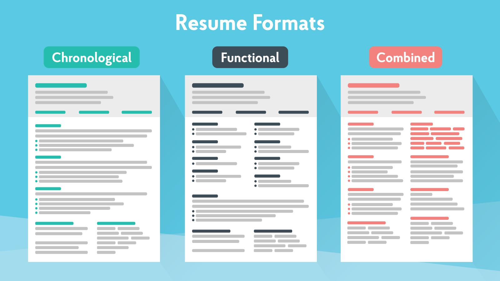83 Beautiful Different Resume Formats by Graphics