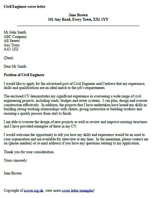 83 Excellent Cover Letter For Civil Engineer with Graphics