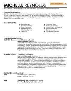 83 Excellent Dental Assistant Resume Skills Examples with Graphics