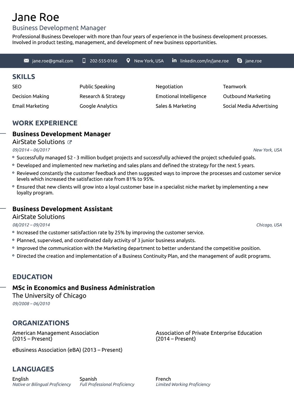83 Great Good Resume Layout by Pictures