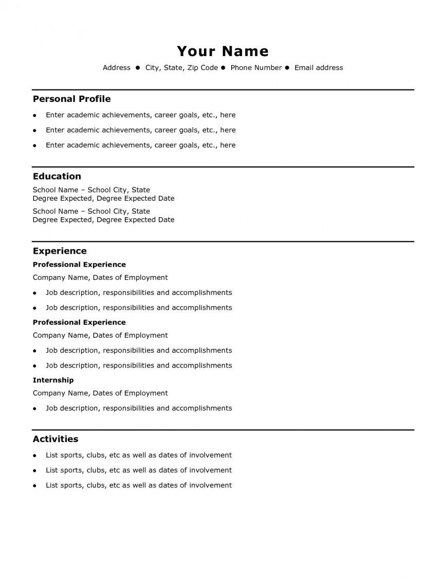 83 Inspirational Format Of Resume For Job Pdf with Images