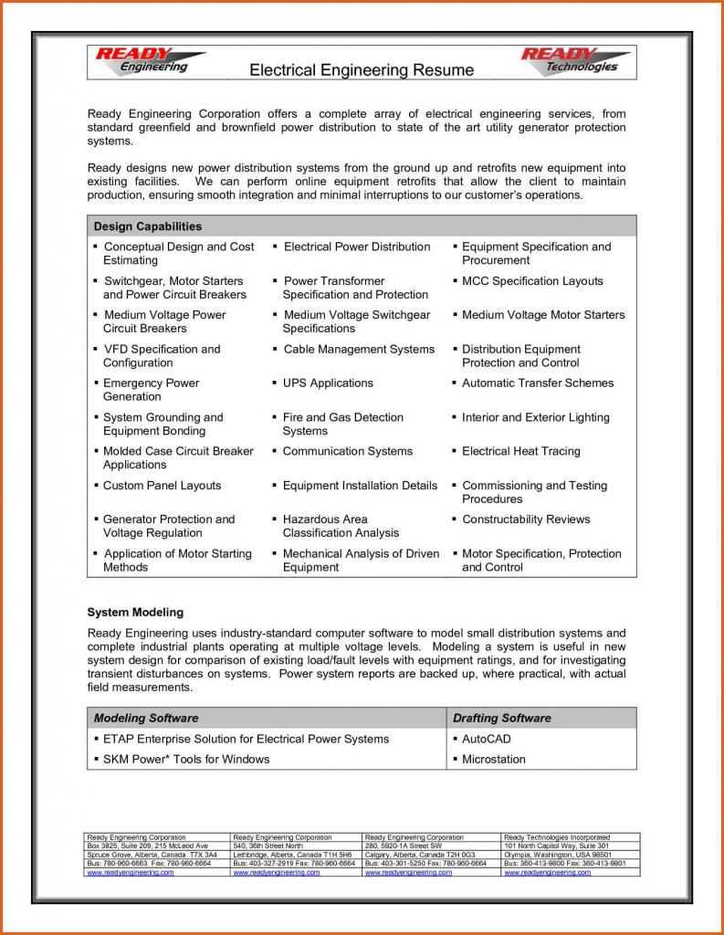 84 Awesome Electrical Engineering Resume Sample For Freshers with Images