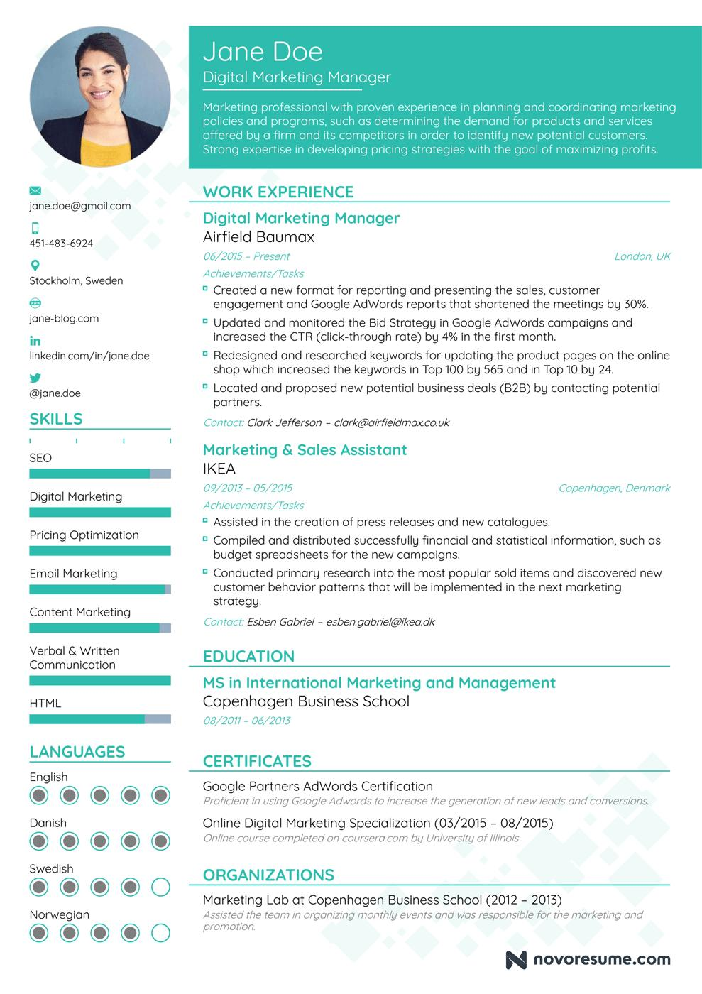 84 Cool Hot To Make A Resume by Pics