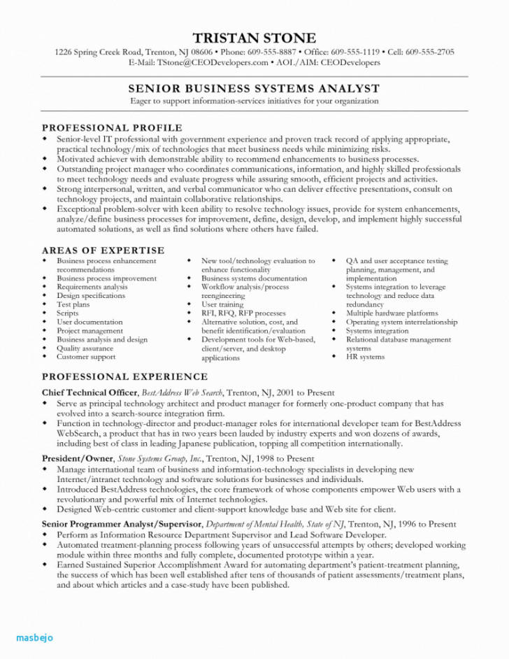 84 Lovely Business Analyst Resume Examples 2018 with Pics