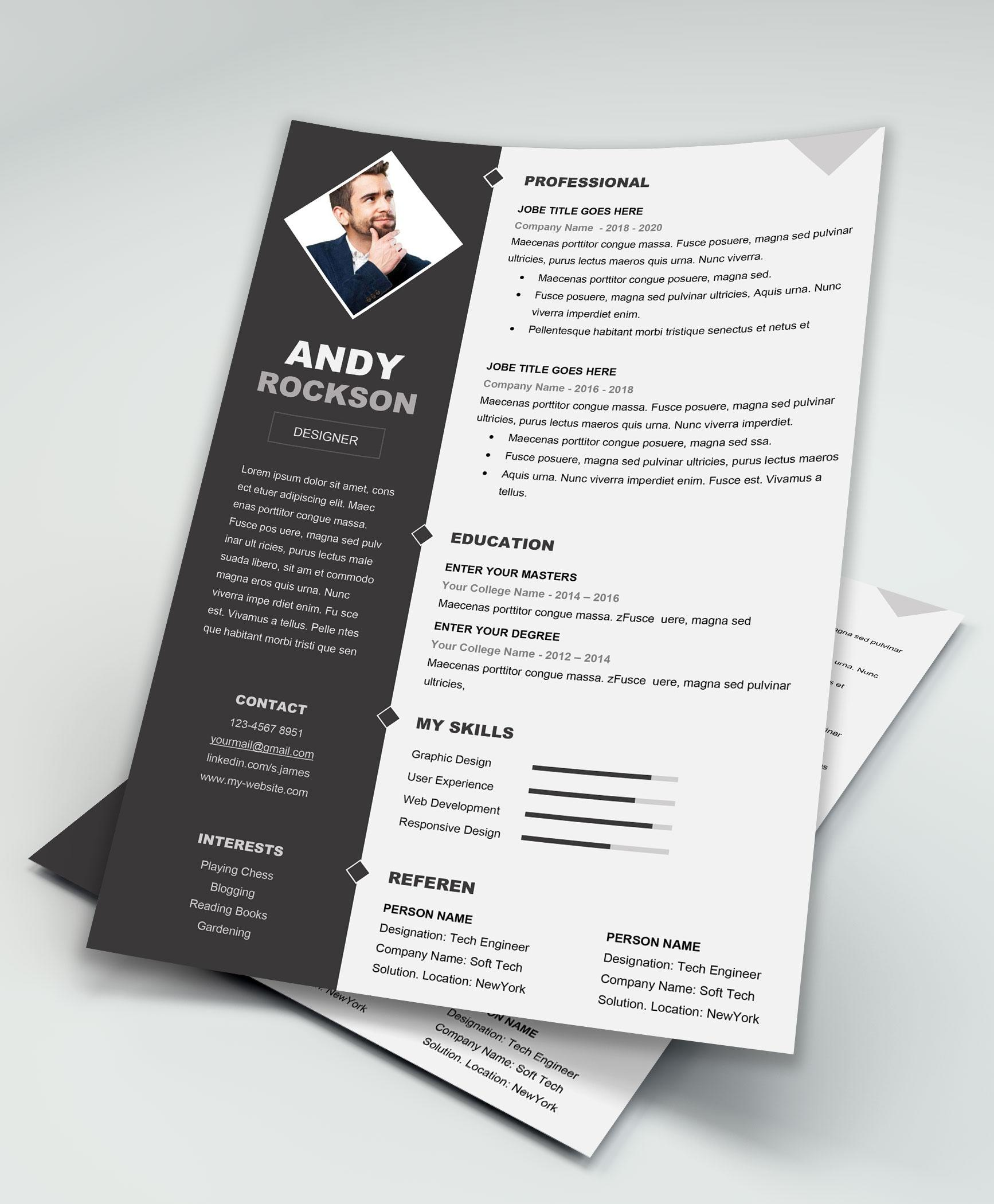 84 New Free Cv Template Download with Pictures