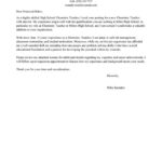 85 Great Education Cover Letter with Pictures