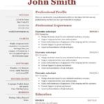 85 Great Professional One Page Resume Template for Images