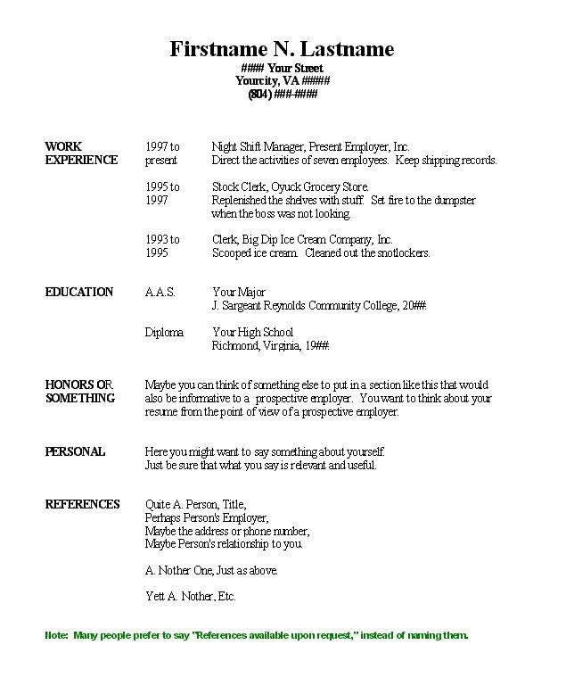 85 Inspirational Free Basic Resume with Ideas