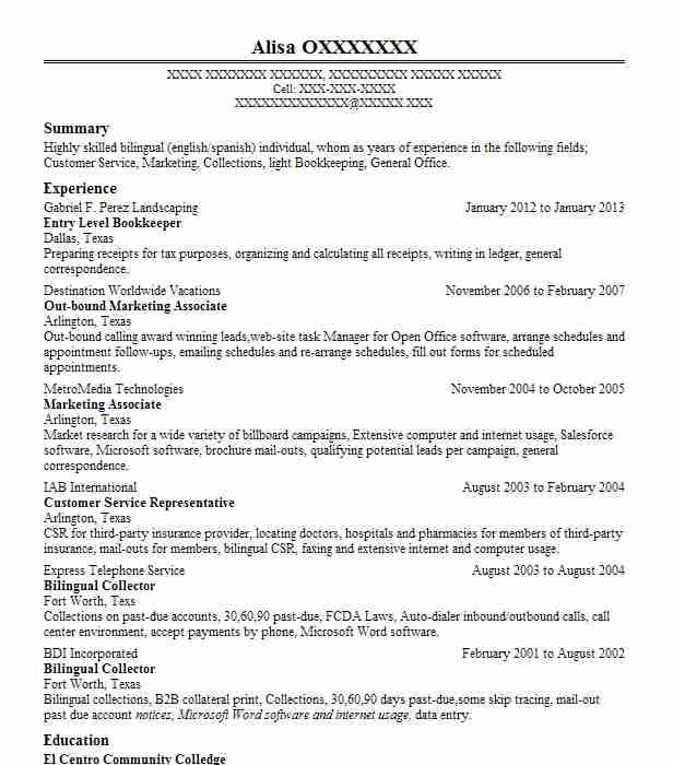 85 Lovely Entry Level Bookkeeper Resume by Gallery